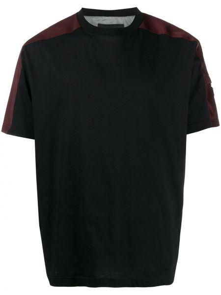 Koszula krótkie z krótkim rękawem z kieszeniami z logo Prada