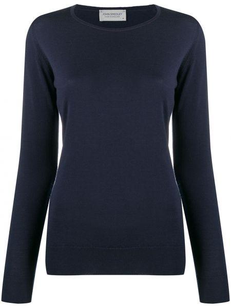 Шерстяной пуловер круглый с вырезом John Smedley