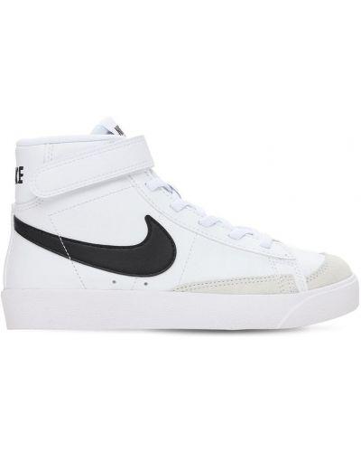 Biała marynarka skórzana sznurowana Nike