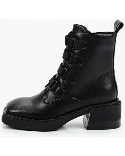 Черные демисезонные ботинки Covani