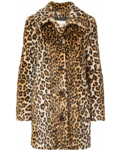 Длинное пальто без воротника на кнопках Sandy Liang