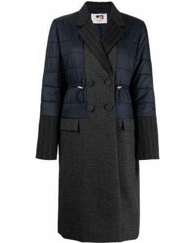 Пальто двубортное - синее Ports 1961