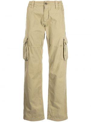 Коричневые хлопковые брюки Alpha Industries