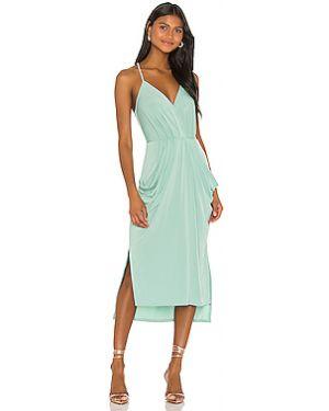 Приталенное драповое платье миди с запахом на кнопках Bcbgeneration