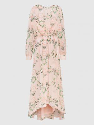 Светло-розовое шелковое платье макси Ermanno Scervino