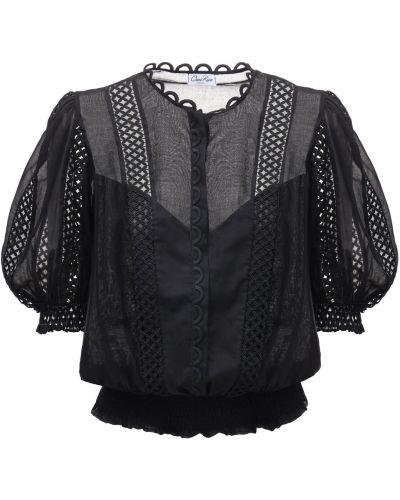 Хлопковая рубашка - черная Charo Ruiz
