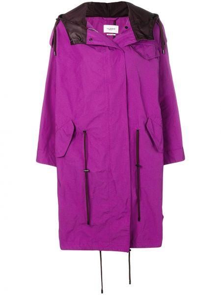 Фиолетовая длинное пальто на пуговицах Isabel Marant étoile