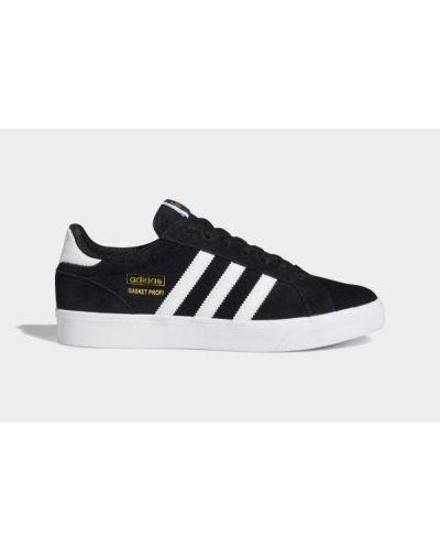 Czarne czółenka klasyczne skorzane sznurowane Adidas