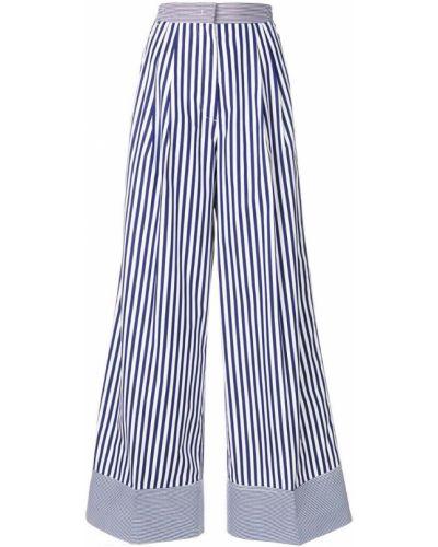 Свободные брюки в полоску со складками Rossella Jardini