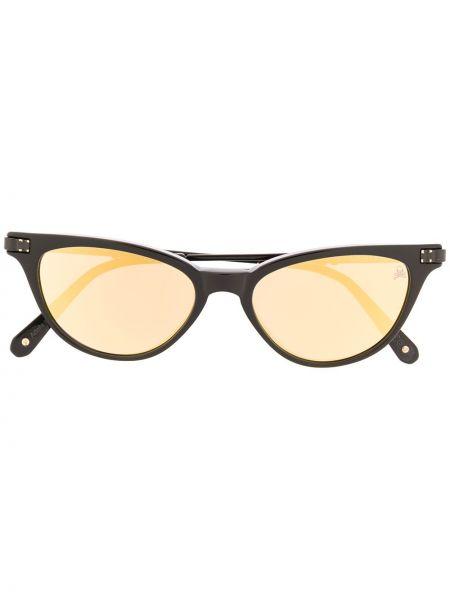 Czarne okulary skorzane Philipp Plein