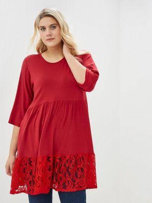 Платье красный осеннее Артесса