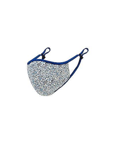 Ватная синяя хлопковая маска для лица в бусинах Tularosa