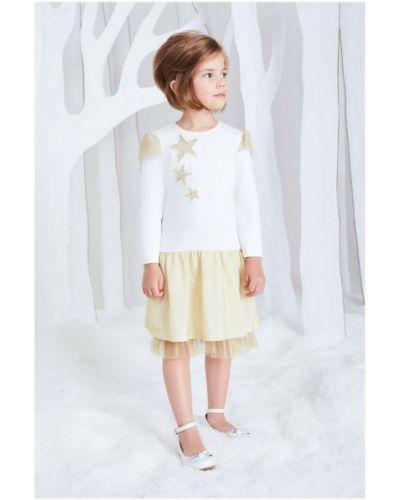 Платье с рукавами хлопковое трикотажное смена