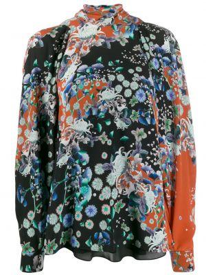 Bluzka w kwiatowe wzory jedwabna Givenchy