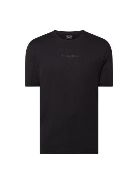 Czarny t-shirt bawełniany Paul & Shark