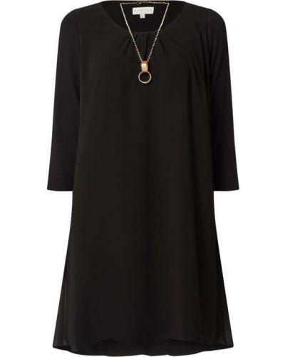Czarna sukienka rozkloszowana z wiskozy Apricot