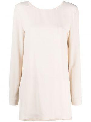 Шелковая с рукавами блузка с вырезом Antonelli