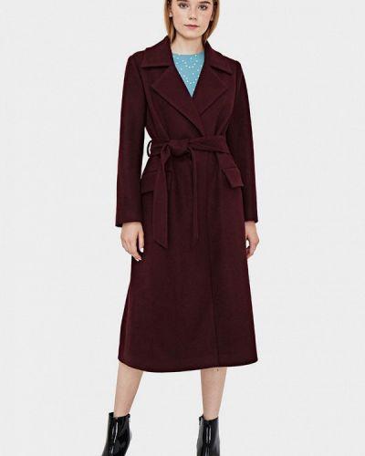 Пальто демисезонное бордовый Sultanna Frantsuzova