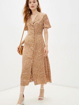 Прямое платье - коричневое Moru