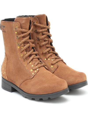 Skórzany brązowy buty Sorel Kids