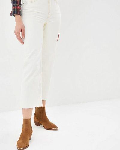 Широкие джинсы расклешенные бежевые Mango