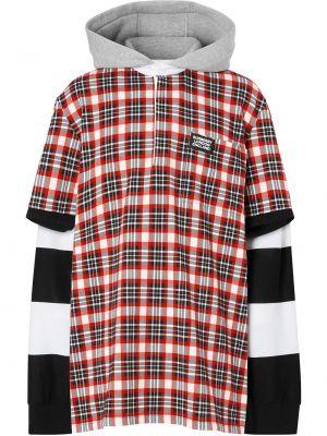 Хлопковая красная классическая рубашка в клетку Burberry