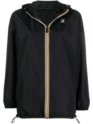 Нейлоновая черная куртка с капюшоном Fendi