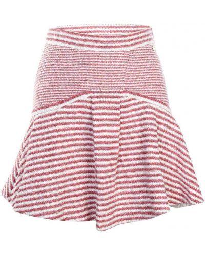 Spódnica mini rozkloszowana z wysokim stanem elegancka Chanel Vintage