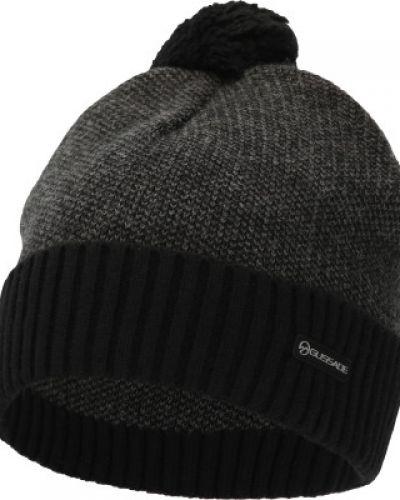 Акриловая серая вязаная спортивная шапка Glissade