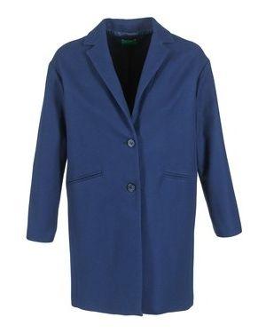 Niebieski płaszcz przeciwdeszczowy Benetton