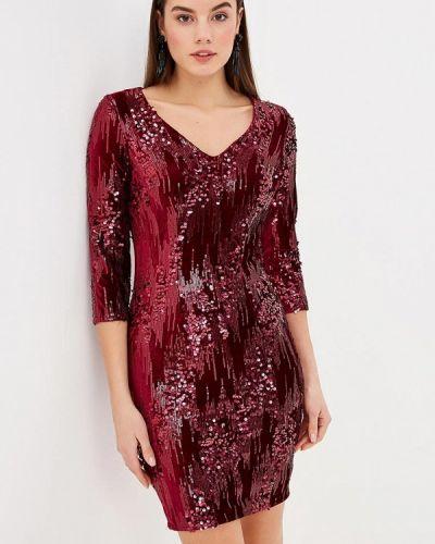 Вечернее платье осеннее красный Little Mistress