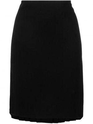 Плиссированная черная юбка мини винтажная Jean Paul Gaultier Pre-owned