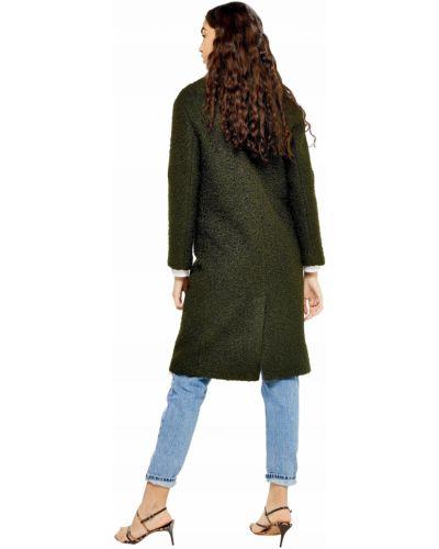 Klasyczny płaszcz khaki z długimi rękawami Topshop