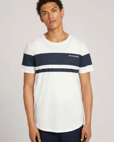 Белая зимняя футболка Tom Tailor Denim