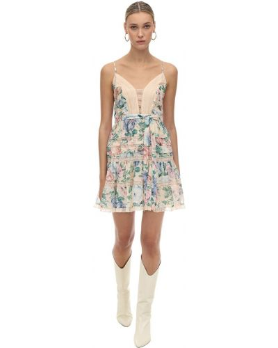 Платье мини на бретелях с V-образным вырезом Zimmermann