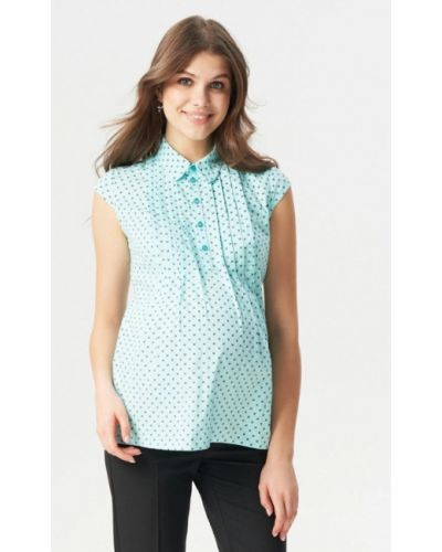 Блузка с коротким рукавом бирюзовая Budumamoy