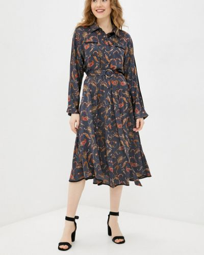 Серое платье-рубашка Silvian Heach