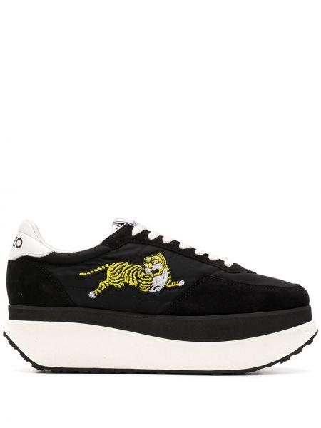 Sneakersy na platformie z logo żółty Kenzo