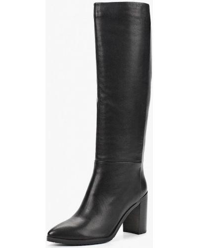 Кожаные сапоги осенние черные Julia Grossi