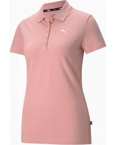 T-shirt bawełniana - różowa Puma