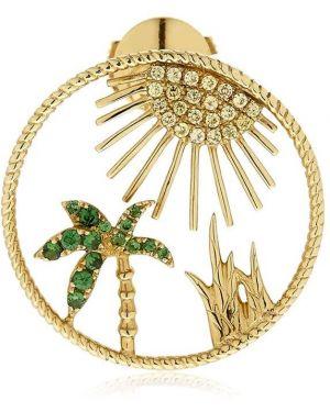 Żółte złote kolczyki ze złota Yvonne Leon Paris