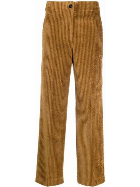 Широкие брюки - коричневые Incotex