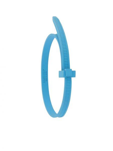 Синий браслет металлический Ambush