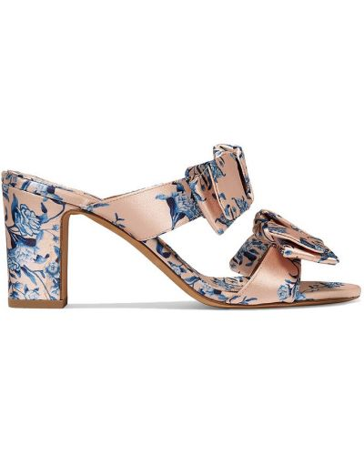 Różowe sandały na obcasie skorzane Tabitha Simmons