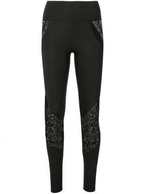 Черные брюки с поясом с высокой посадкой без застежки Kiki De Montparnasse