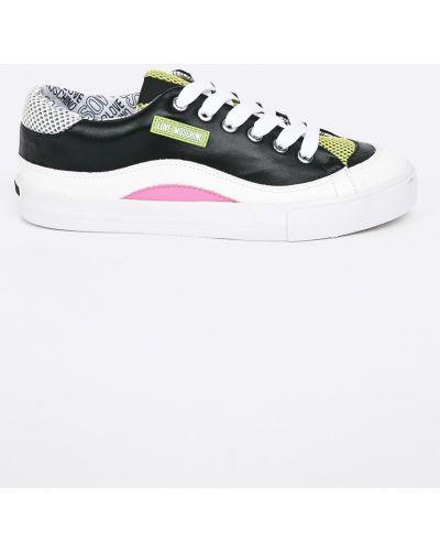 Кроссовки на шнуровке резиновые Love Moschino