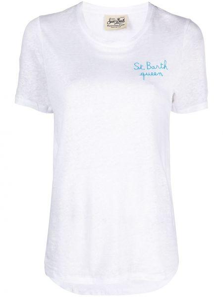 С рукавами белая футболка круглая Mc2 Saint Barth