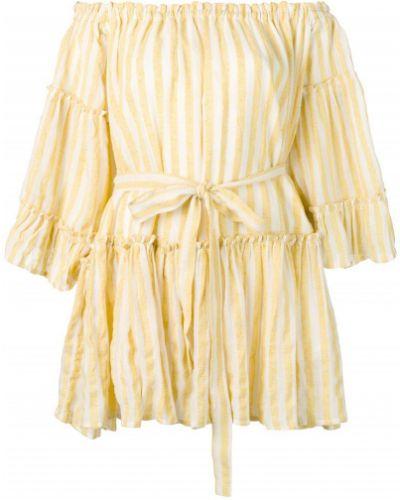 Желтое платье макси свободного кроя Sundress