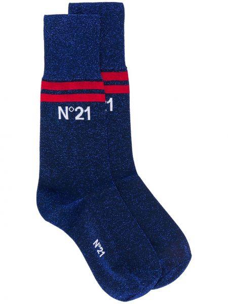 Носки металлические эластичные в рубчик N°21