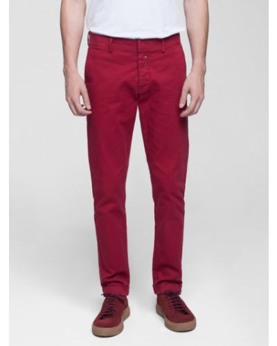 Czerwone spodnie materiałowe Vistula